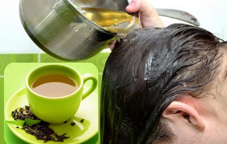 وصفة لغسيل الشعر بالشاي الأخضر