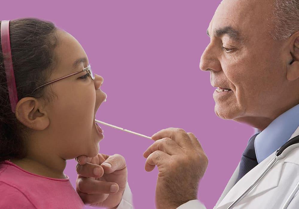 علاج تقرحات الفم عند الاطفال