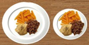 تناول الطعام في طبق صغير من طرق انقاص الوزن