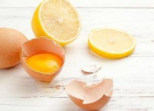 ماسك االبيض والليمون للشعر الدهني